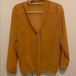 Mendachino blouse, Mustard colour, lightly worn